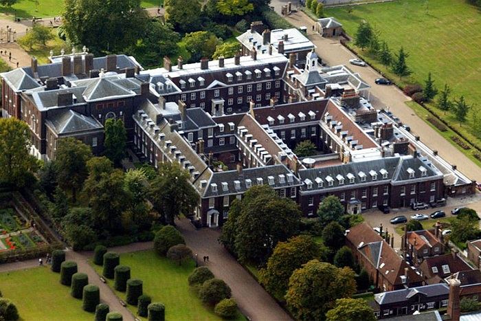 Кенсингтонский дворец, вид сверху