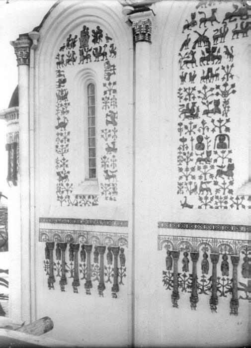 Северный фасад, западная половина, верхний ярус. Коренев В.И.(?) 1883-1897 гг.