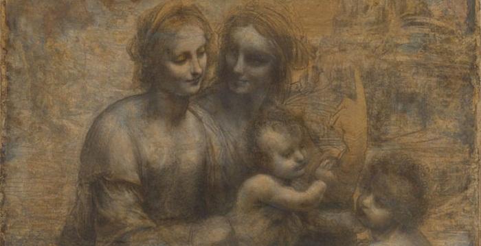 «Святая Анна с Марией, младенцем Христом и Иоанном Крестителем» Леонардо да Винчи