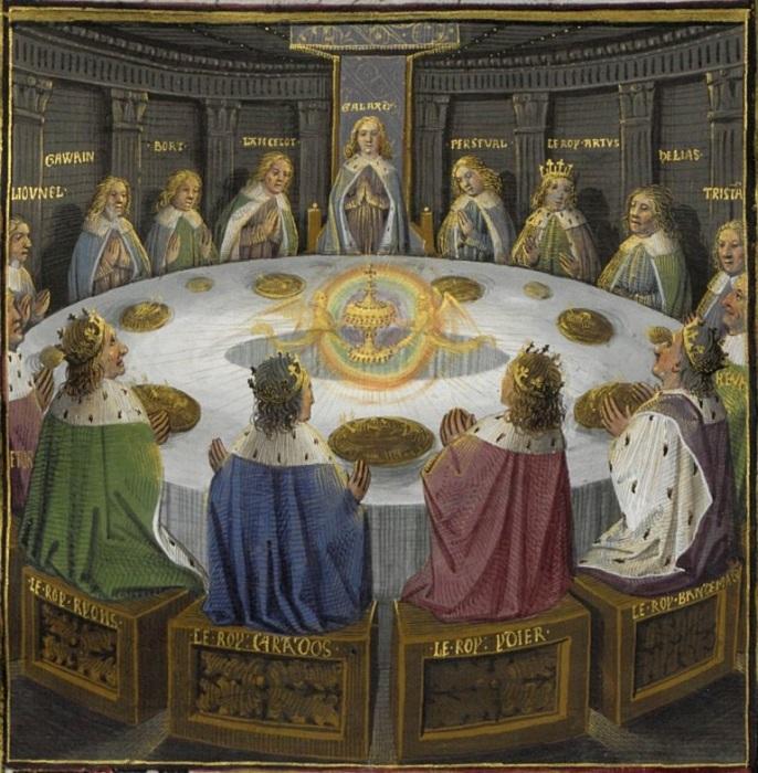 Рыцари круглого стола. Явление Чаши Грааля