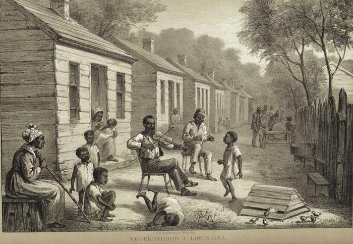Вечерний досуг в поселении рабов (штат Луизиана, 1861 - 65 годы)