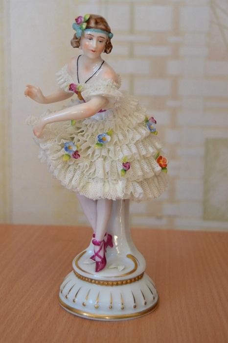 «Балерина», кружевной фарфор, E & A Muller, Volkstedt, 1890-1930