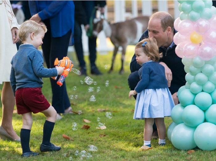 Малыши Кембриджские на детском празднике в Канаде, 29 сентября 2016 года