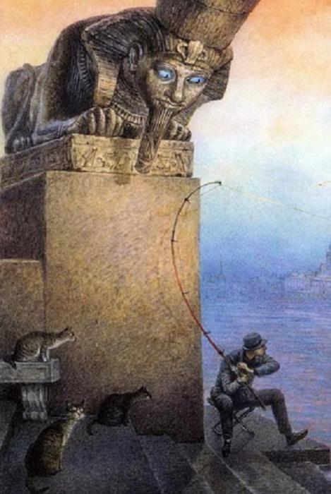 Картина питерского художника Владимира Румянцева
