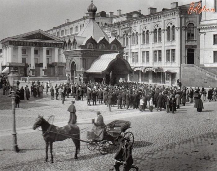 Часовня Христа Спасителя Гуслицкого Спасо-Преображенского монастыря Фотограф: Карл Булла 1900-1903 год.