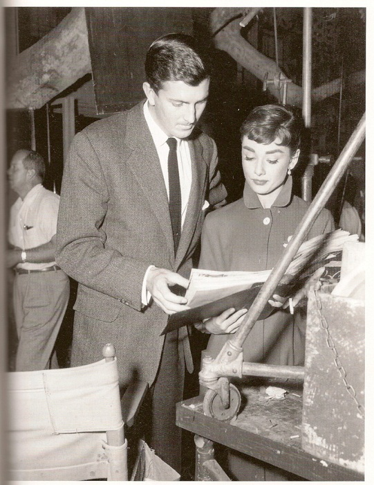 Одри Хепберн с её другом, великим кутюрье Юбером де Живанши