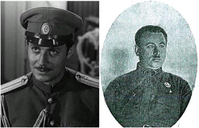 Павел Кольцов (Ю. Соломин) и его прототип Павел Макаров