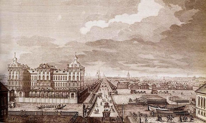 Аничков дворец, 1749-1750 гг.