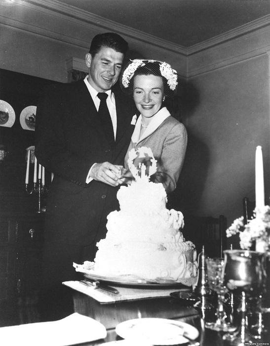 Рональд Рейган в день его свадьбы с Нэнси Дэвис в марте 1952 года.