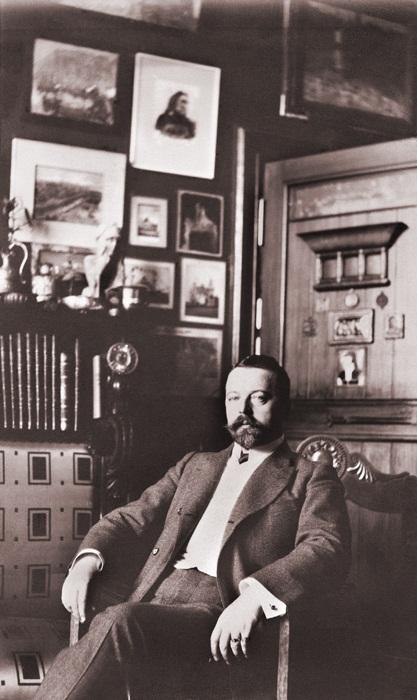 Ф. О. Шехтель в своём доме в Ермолаевском переулке. Фото конца 1890-х годов из семейного архива К. С. Лазаревой-Станищевой
