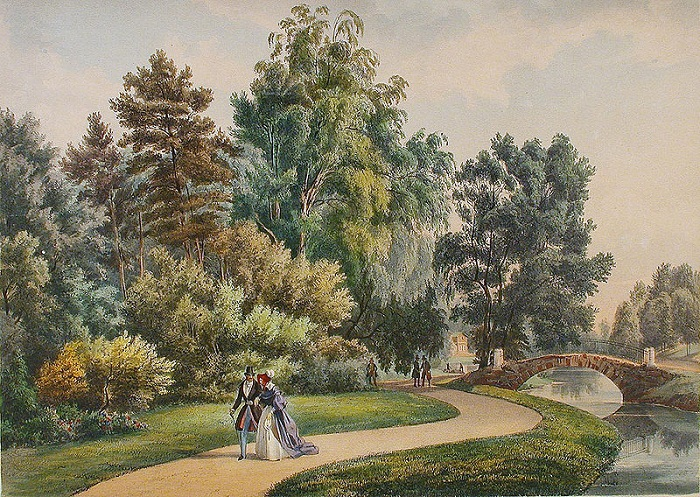 Английский парк Худ. И.Н. Раух