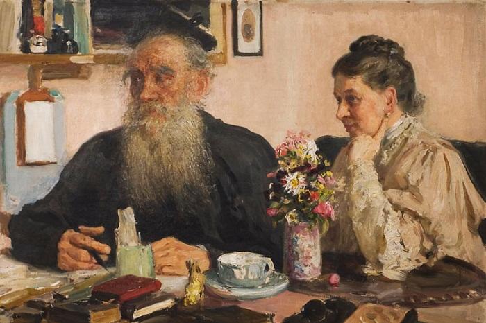 Лев Николаевич Толстой с Софьей Андреевной