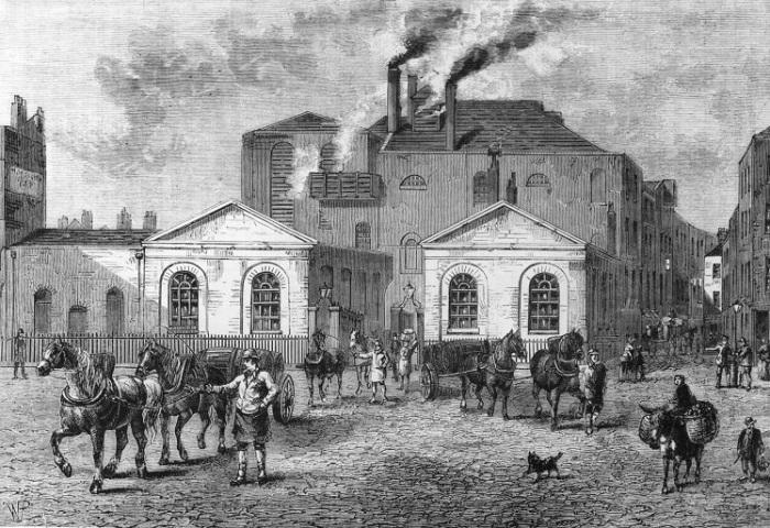 Пивоварня «Подкова», Тотенхем-Корт-Роуд через 15 лет после трагедии, 1830 год