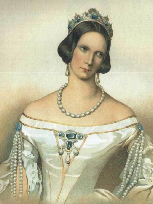 Александра Федоровна, жена Николая I, в сапфировой тиаре