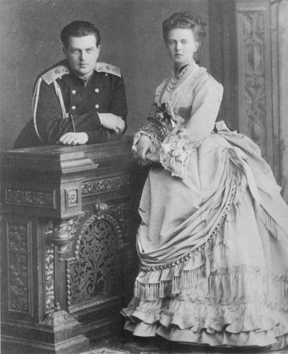 Мария Александровна с супругом Альфредом, герцогом Эдинбургским