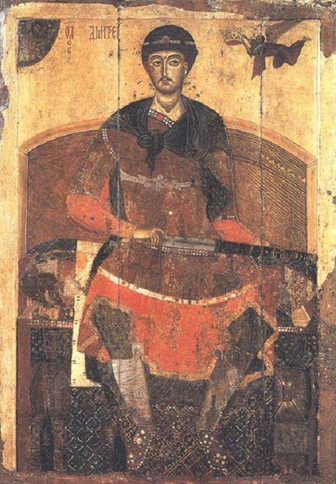 Икона св. Дмитрия Солунского