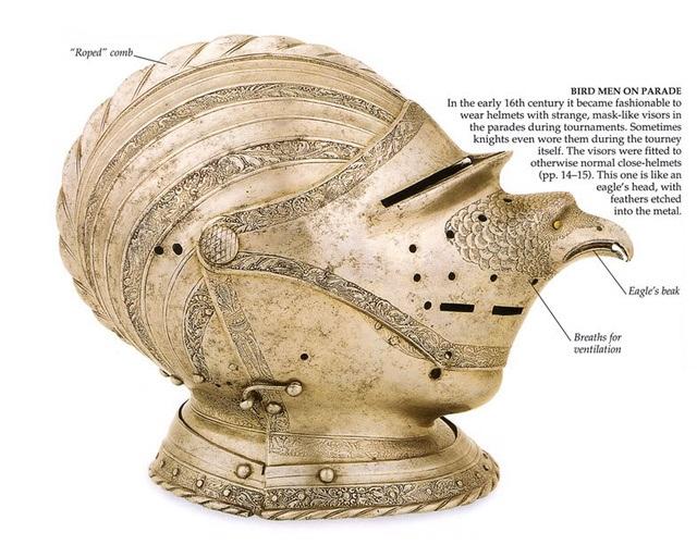 Парадный птичий шлем 16-го века. Птицеголовый шлем из Германии, начало 16 века