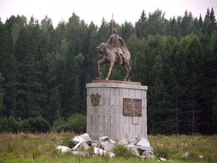 «Памятник Акинфию Демидову от благодарных потомков» на берегу Чусовой