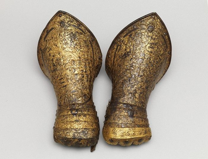 Перчатки Франция 1600 г. Сталь, золото