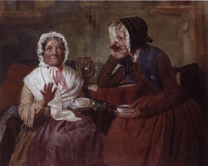 Маттиас Робинсон середина- или конец 19 века. «Сплетни за чашкой чая».