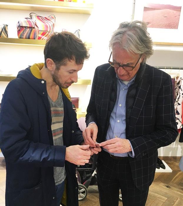 Рустам Адюков и британский дизайнер Пол Смит. декабрь 2017 г.