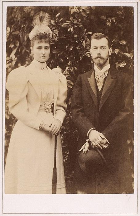 Цесаревич Николай и принцесса Аликс в апреле 1894 года