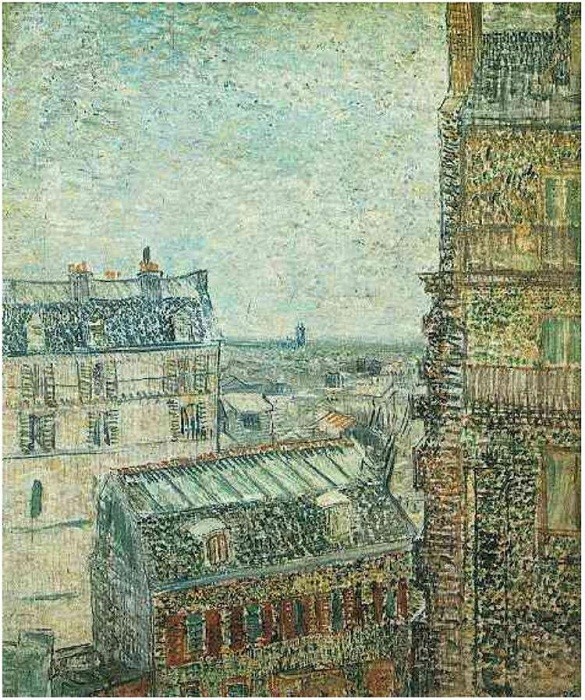 Ван Гог. Вид на Париж из квартиры Тео на улице Лепик. 1887. Масло. Музей Винсента Ван Гога, Амстердам, Нидерланды