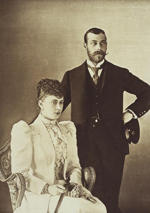 Виктория Мария Текская и Георг, герцог Йоркский в день помолвки