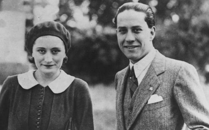 Эдда Чиано-Муссолини с мужем