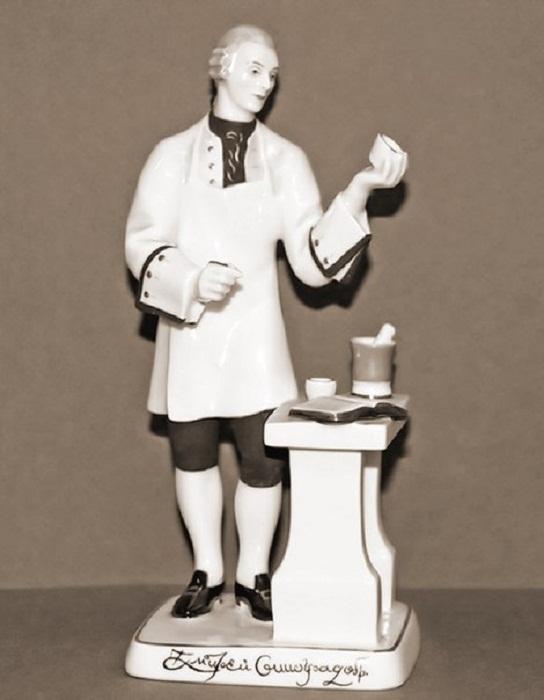 Скульптура «Д.И. Виноградов». Скульптор Г.Б. Садиков, художник Л.И. Лебединская. ЛФЗ. 1970-1075 гг.