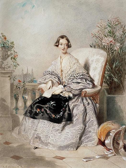 Альфред Эдвард Шалон. Королева Виктория, 1838 год