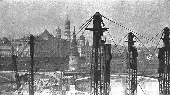 Часть каркаса Дворца Советов