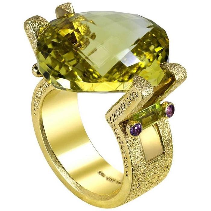 Кольцо с лимонным кварцем от Alex Soldier