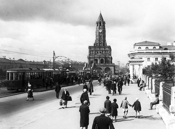 Сухаревская башня перед сносом