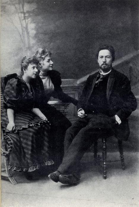 Антон Чехов с поклонницами