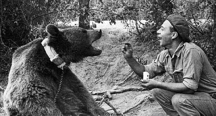 Петр Прендыш со своим любимцем