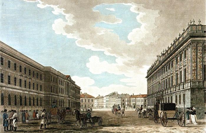 Малтон Т. Большая Миллионная улица и Мраморный дворец. 1790 год. Дж. Хирна