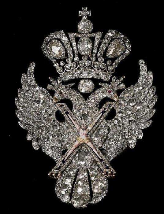 Косой крест с изображением распятого св. Андрея