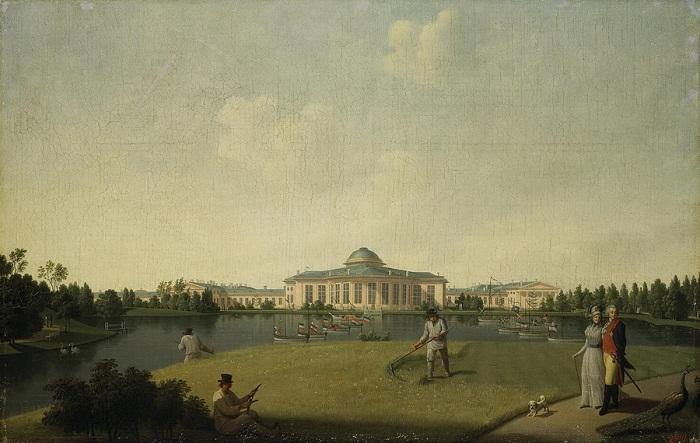 Б.Патерсен. Таврический дворец со стороны сада 1797