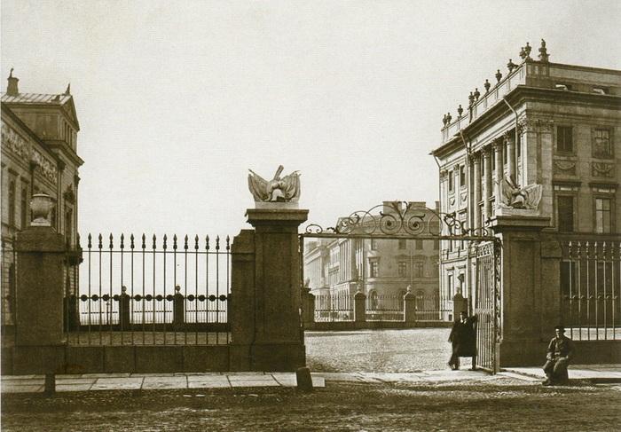 Бианки И. К. Мраморный дворец. Вид со стороны Дворцовой набережной. До 1872 года