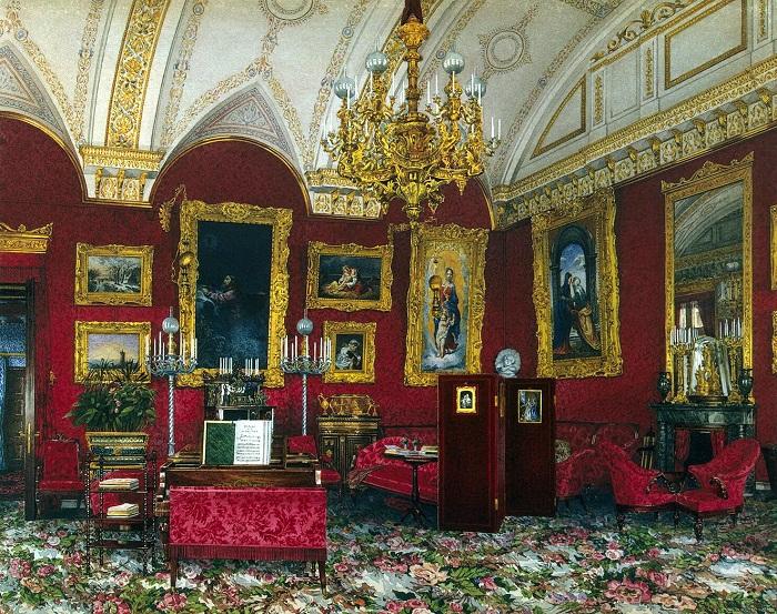 Кабинет великой княгини Марии Александровны. К.А. Ухтомский 40-е годы