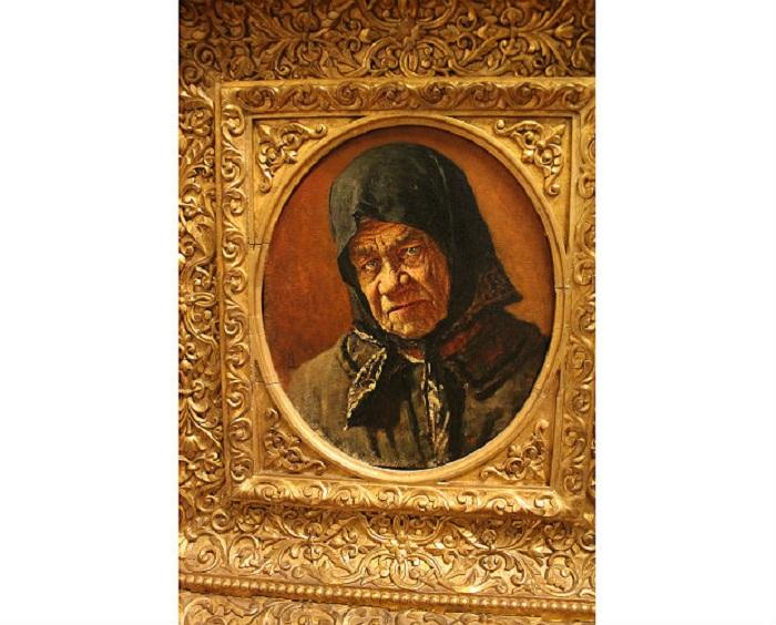 В. Верещагин. Старуха нищенка 96 лет, 1889 г. Авторская рама