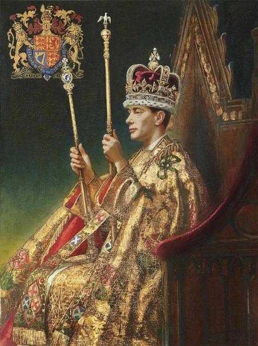 Король Георг VI в короне Св. Эдуарда - годы правления (1936—1952)