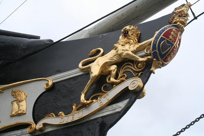Лев на корабле Великобритании