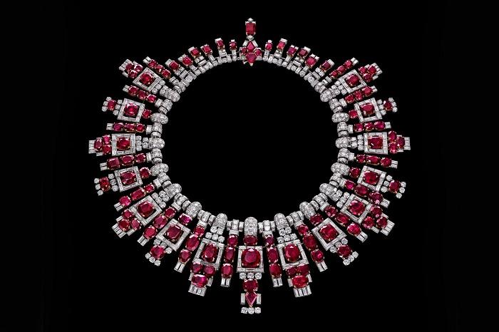 Ожерелье с рубинами махараджи Наванагара (Cartier, 1937)