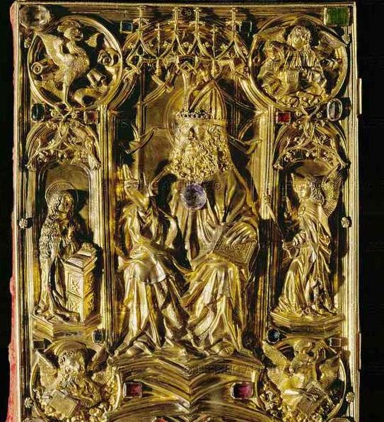Imperial Book of Gospels (Reichsevangeliar), Aachen, Germany, 8 век