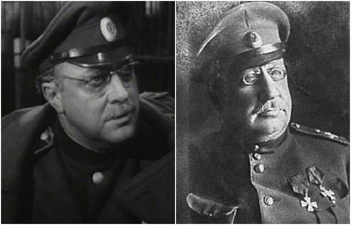 Генерал Ковалевский (В. Стржельчик) и его прототип генерал Май-Маевский