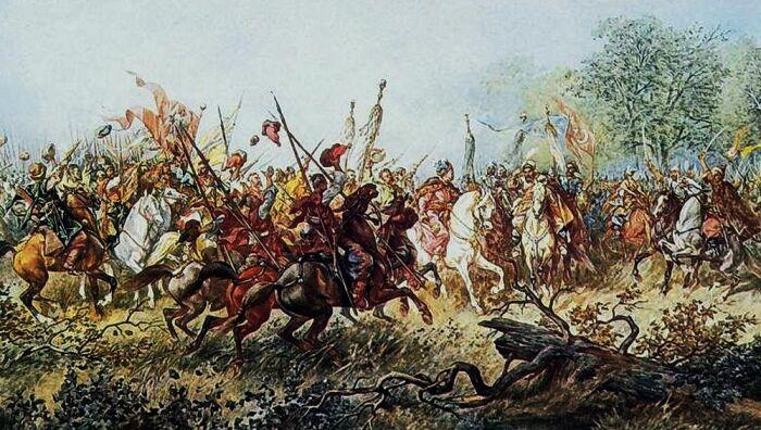 Восстание Хмельницкого против шляхты, поддержанное Дорошенко. /Фото: odnarodyna.org