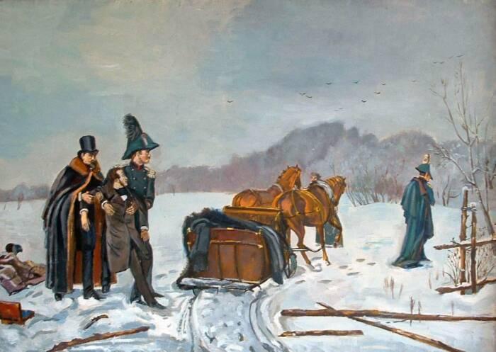 После дуэли Пушкин скончался, наказав жене носить траур 2 года. /Фото: warfiles.ru