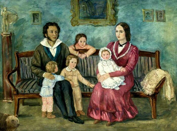 У Пушкина и Гончаровой было четверо детей. /Фото: akula-media.ru